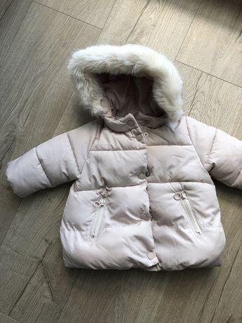 Zimowa kurtka niemowleca r 68 Zara 3-6 msc
