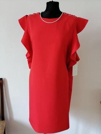 Nowa sukienka z falbankami rozmiar L /XL