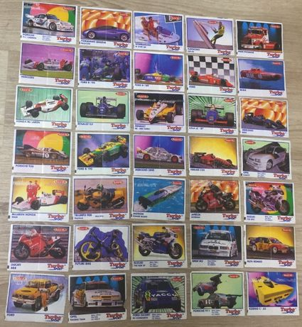Полная серия вкладышей Turbo sport 1-70. 70 штук. В коллекцию!