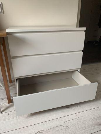 Komoda biała Malm Ikea 80x48x78 trzy szuflady Wrocław