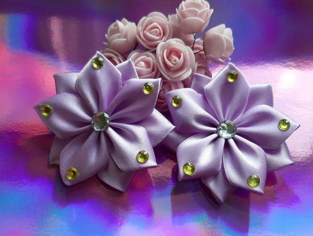 Бантики цветочки ручной работы для принцесс