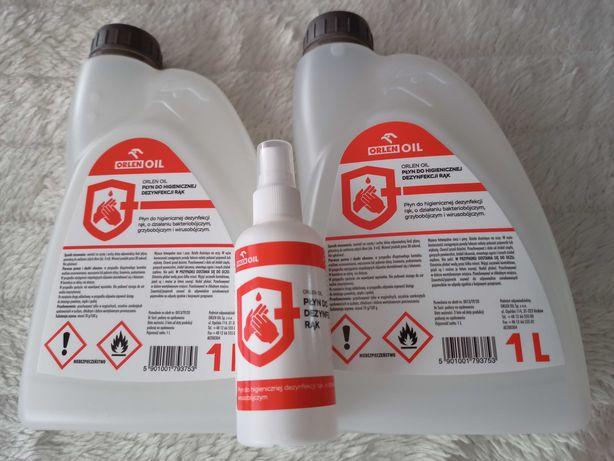 4 x Orlen Oil Płyn do higienicznej dezynfekcji rąk 1 L + 2 x 100 ml
