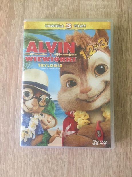 Sprzedam Bajki na dvd x 3 Alvin wiewiórka .Stan idealny
