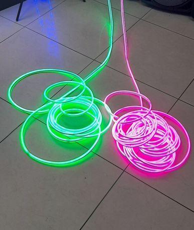 Светодиодный гибкий неон SMD 2835 (Фиолетовый,зеленый) 220V