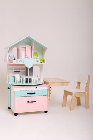 Кукольный домик-модуль 3 в 1