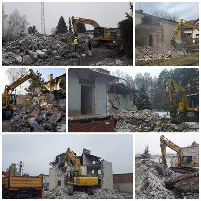 Rozbiórka, rozbiórki wyburzenia domów, budynków