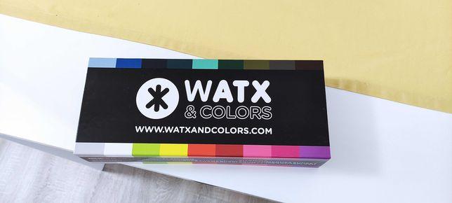 Relógio watx & color com várias braceletes e caixa