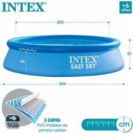 Piscina Intex 244x61cm C/Bomba e Filtro *Porte envio incluídos*