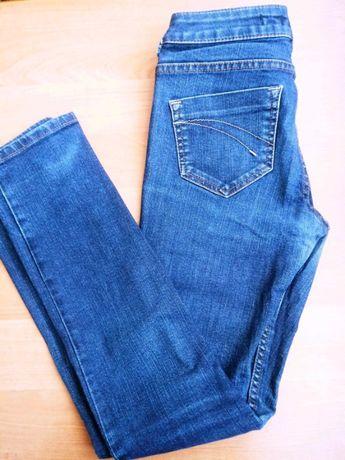 Dżinsy jeansy granat przecierane 34 XS W26 L30 Top Shop