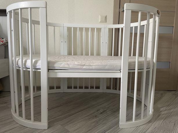 Кроватка Ingvart 9в1 + Матрас +белье +подушки +одеяло