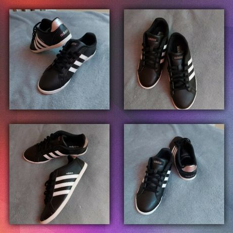 Czarne skórzane buty ADIDAS, R.37