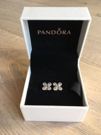 Srebrne kolczyki Pandora