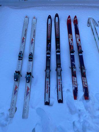 Narty,kijki i buty narciarskie