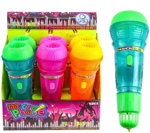 Mikrofon echo karaoke dla dzieci zabawka świeci