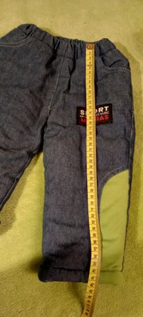 Colieple zimowe ocieplane spodnie