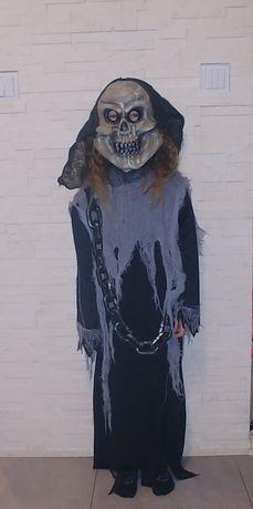 Strój karnawałowy kościotrup 7-8 lat 128-134 cm Halloween