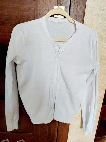 Biały sweter kardigan hm L
