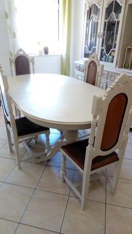 Mesa + 4 cadeiras madeira maciça extensível = 350 EUROS - Está em BEJA