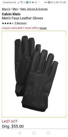 Мужские перчатки Calvin Klein, размер XL  оригинал