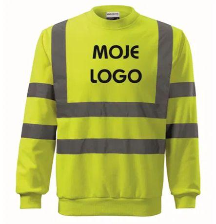 Bluza Kurtki Koszulki Spodnie BHP z nadrukie znakowanie odieży