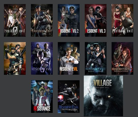 Resident Evil Village 8 и 7,6,5,4,3,2,1,0 для ПК PS3/4/5 Xbox 360/One
