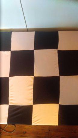 Narzuta kapa pled koc patchwork na łóżko sofę szachownica młodzieżowa