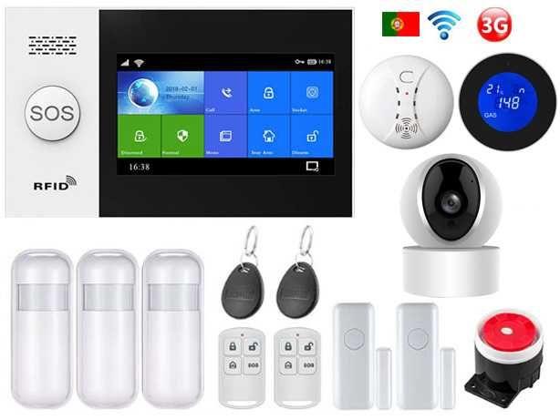 Alarme Casa sem fios GSM/3G/WiFi/Câmara Android/iOS Português (NOVO)