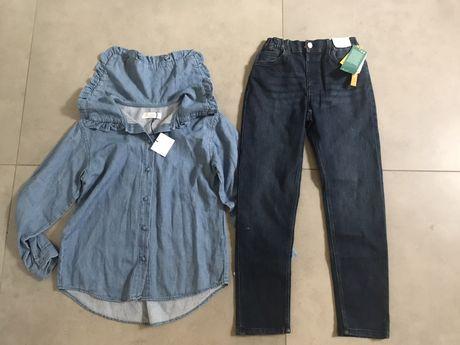 Nowy zestaw dżinsowy Zara + H&M, 140 cm, 9-10 lat