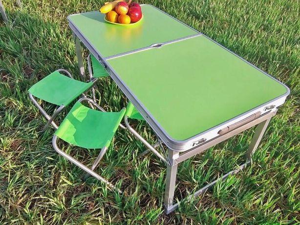 Стол для пикника УСИЛЕННЫЙ и 4 стула. Раскладной столик, стіл пікнік