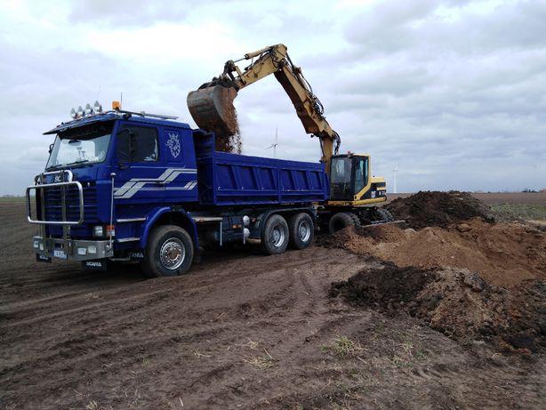 Usługi transportowe wynajem wywrotki 13 ton usługi Koparko ładowarką