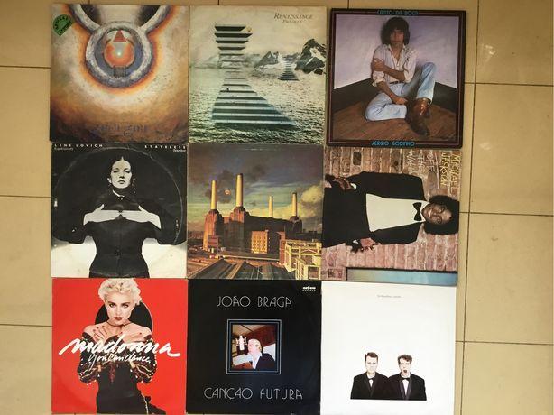 Discos de vinil Pink Floyd , Michael Jackson, Madonna, Sergio Godinho