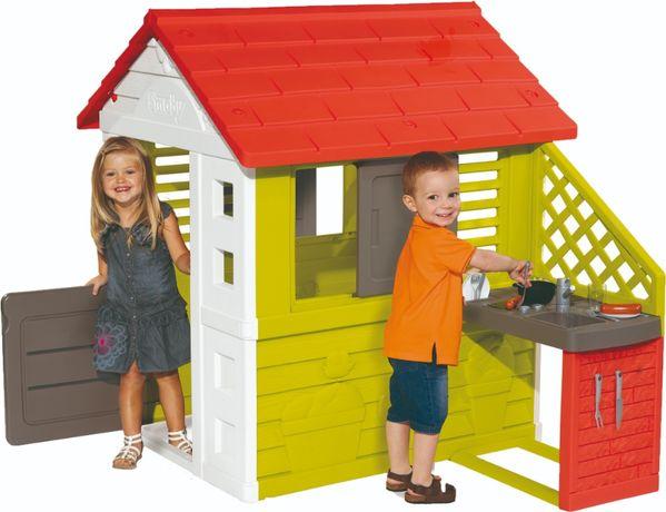 БЕСПЛ.ДОСТАВКА Домик Smoby Toys Солнечный с летней кухней (810713)
