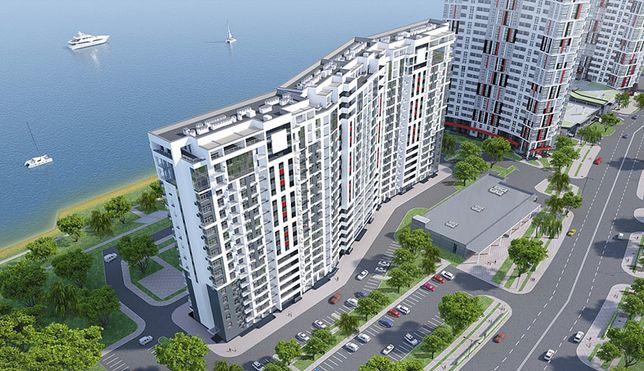 1-я квартира Маланюка 31 вид на Днепр, 44м. кв. 15 этаж, Левобережная