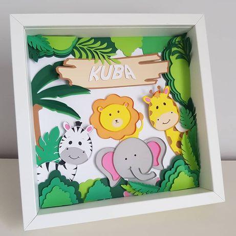 Obraz dla dziecka z personalizacją safari prezent