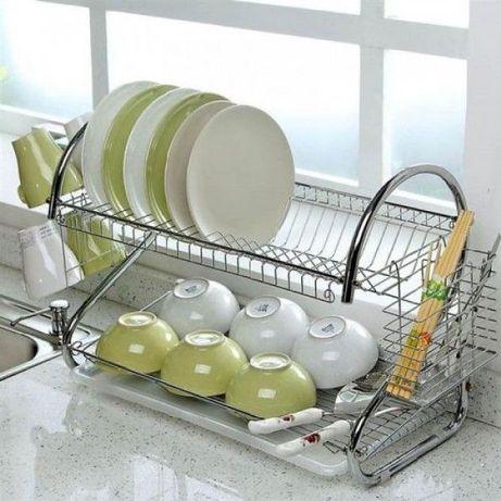 Стойка для посуды. Оригинал. Сушка Kitchen. Сушилка органайзер.