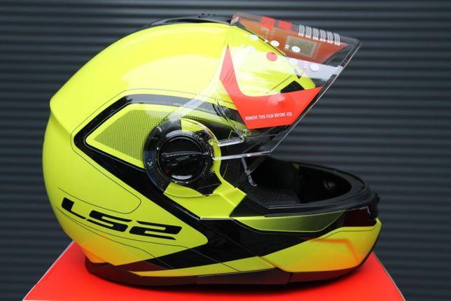 Kask szczękowy blenda LS2 FF325 STROBE SOLID Neonowy żółty S M L XL XX
