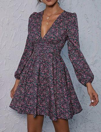 Nowa sukienka kwiaty wiosna XXL