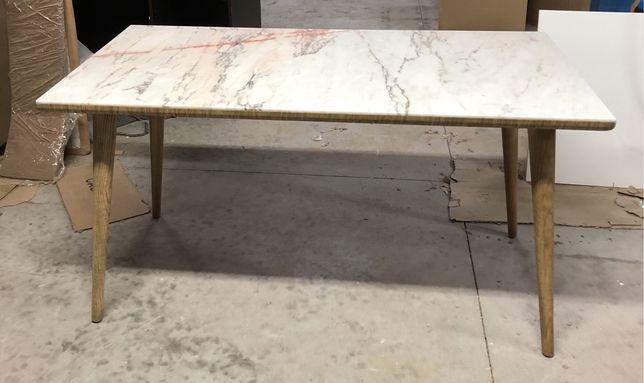 Mesa de jantar em Carvalho e pedra mármore