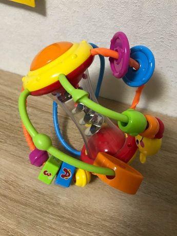 Развивающая спиральная игрушка погремушка от 6 месяцев