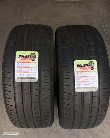 2 pneus semi novos 235/45R18 Pirelli -  Entrega grátis