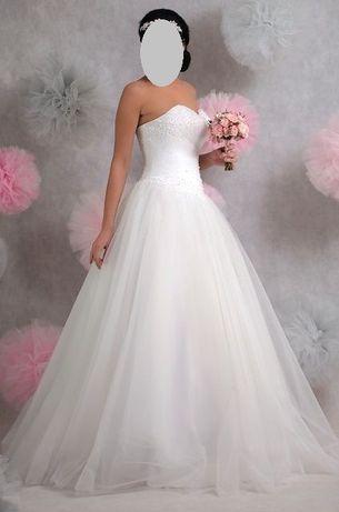 Suknia ślubna Princesska,SISI,rozmiar 36/38,welon Swarovski Gratis