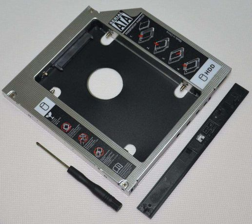 Adaptador caddy para discos no lugar do CD/DVD