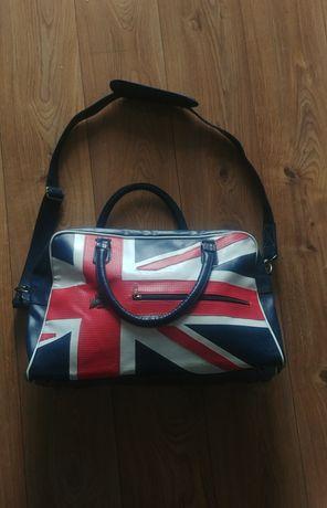 LONSDALE duża torba podróżna na ramię flaga brytyjska angielska UK