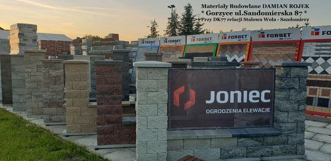 OGRODZENIA ŁUPANE pustak bloczek słupkowy betonowy łupany JONIEC GORC