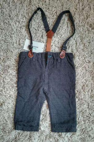 новые стильные детские штаны с подтяжками Reserved