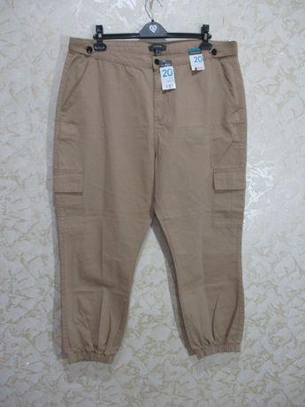 Стильные котоновые брюки на резинке/джоггеры /52-54 р/батал