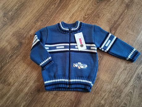 NOWY sweter sweterek chłopięcy rozmiar 86, 140