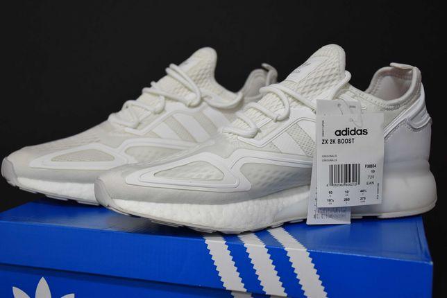 Ténis brancos da adidas ZX 2K boost full white 44 2/3 EU (10 UK)