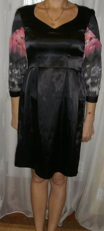 Платье из атласа