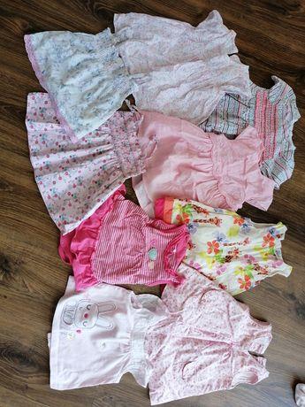 Paka ubran 130 sztuk dla dziewczynki 60-68